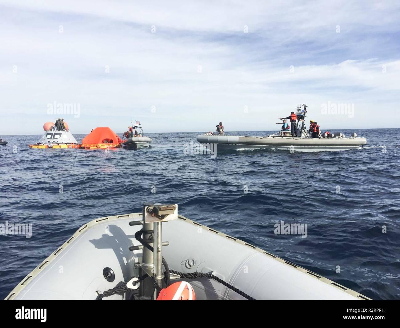 PACIFIC OCEAN (Nov  1, 2018) - Sailors from amphibious