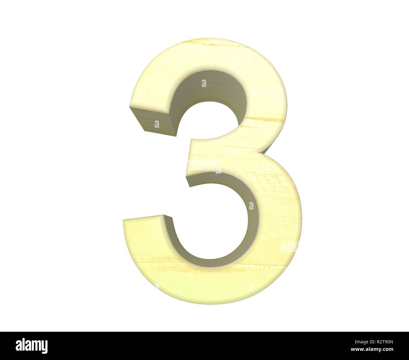 number 3 - Stock Image