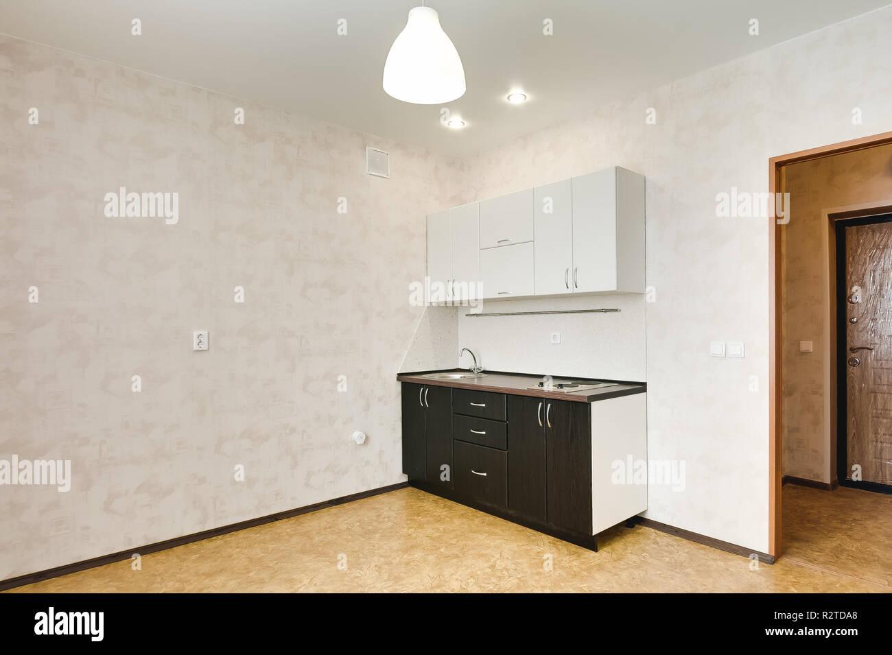Interior In A Small Studio Apartment Kitchen Set Repair In