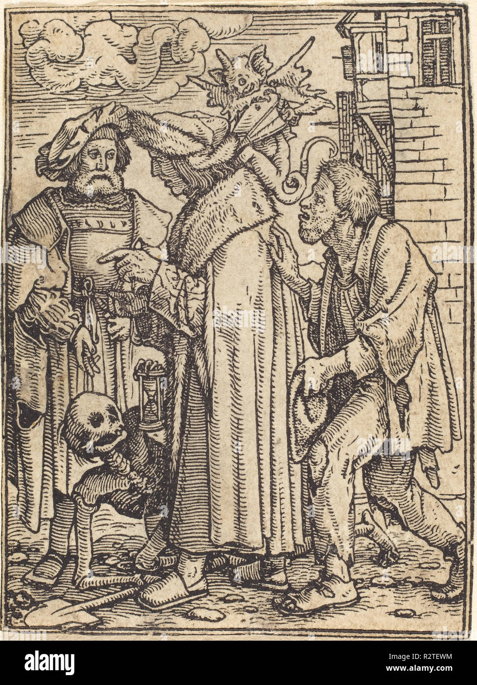Counsellor. Medium: woodcut. Museum: National Gallery of Art, Washington DC. Author: Hans Holbein the Younger. - Stock Image