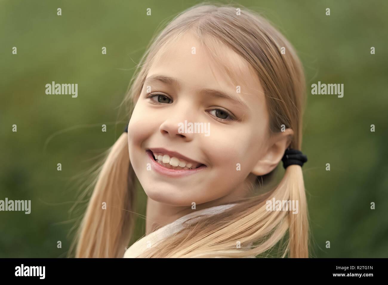 Brilliant Little Girl Smile On Natural Background Childhood Child With Schematic Wiring Diagrams Phreekkolirunnerswayorg