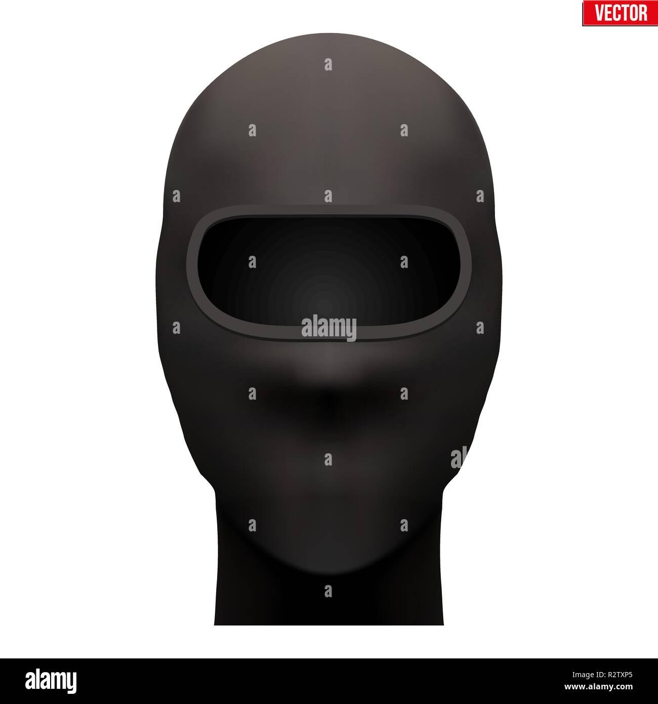 Black Balaclava SKI mask - Stock Vector