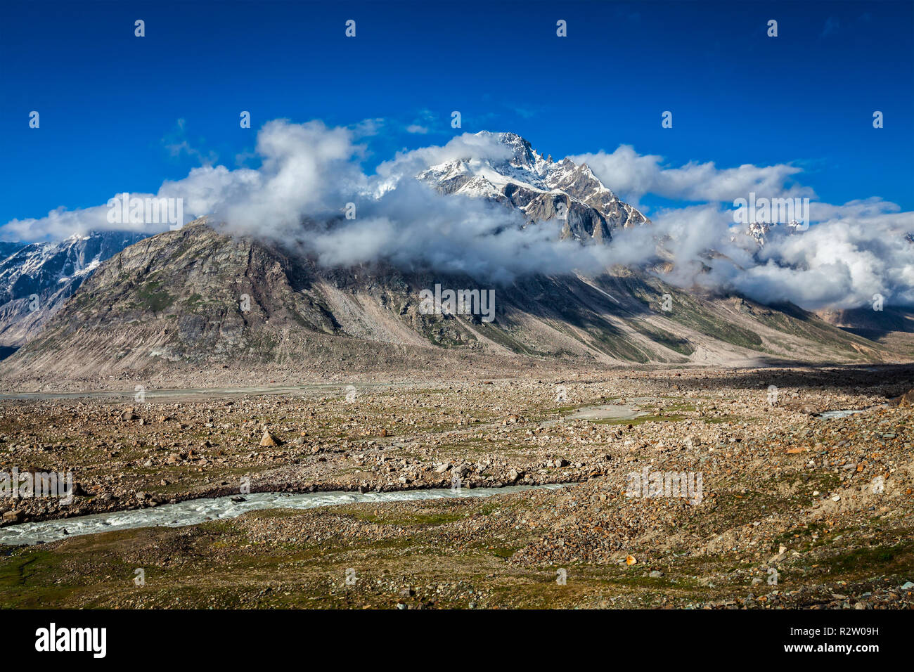 Himalayan landscape, India - Stock Image