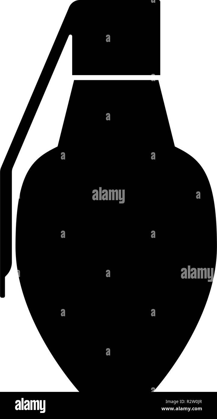 Grenade icon black color vector I flat style simple image - Stock Vector
