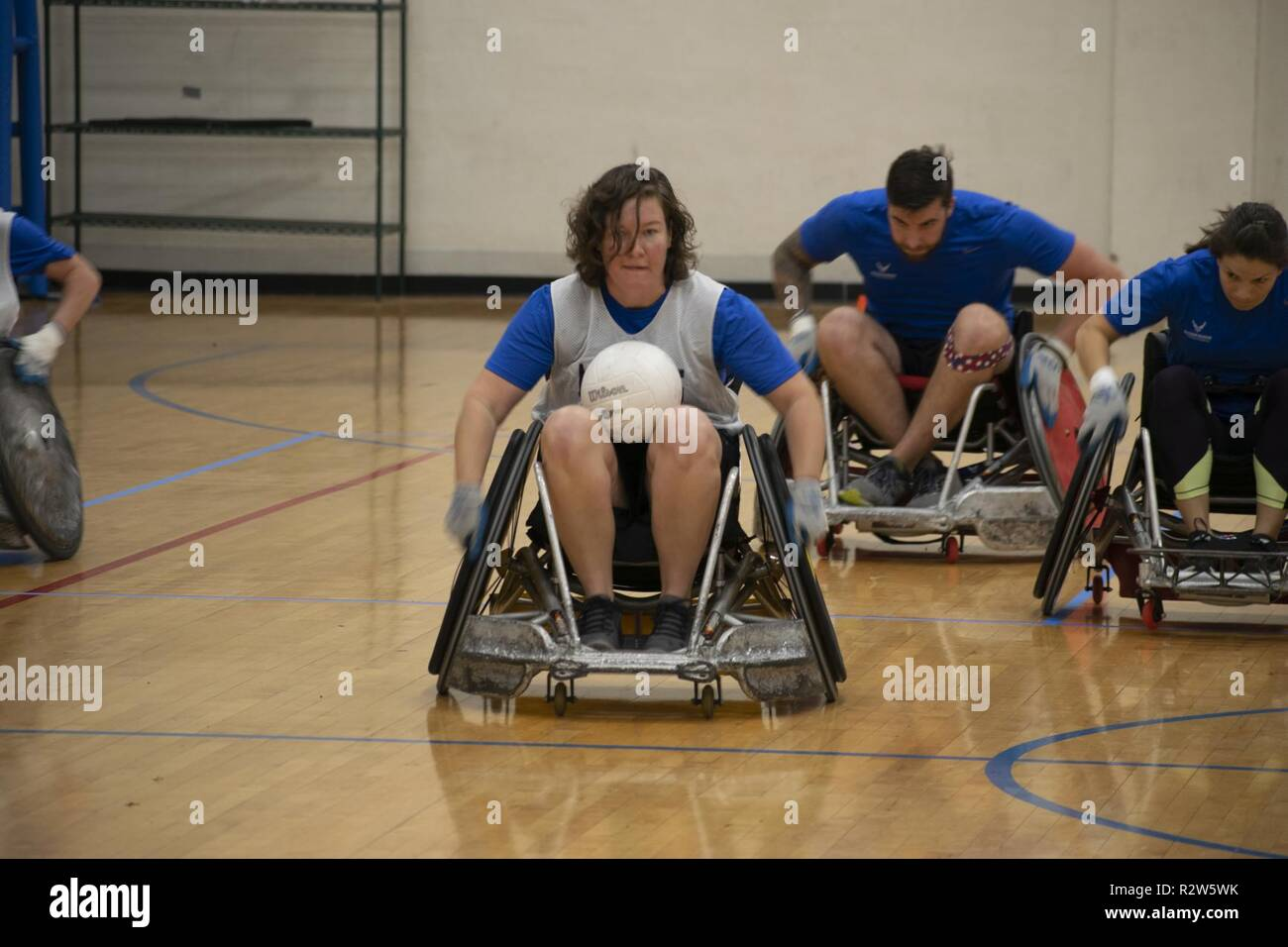 Warrior Games 2020.Retired Captain Kelly Patterson Moves Quickly Up The Court