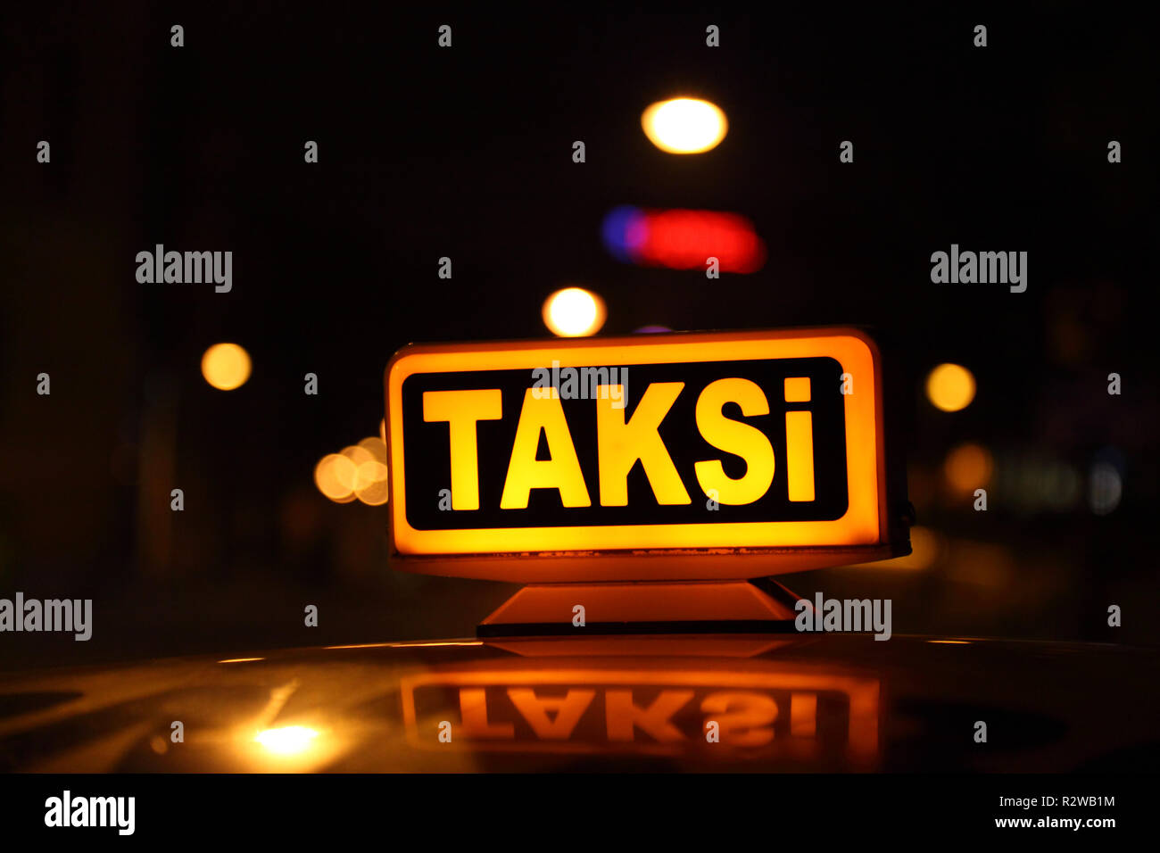 steam taxi Stock Photo