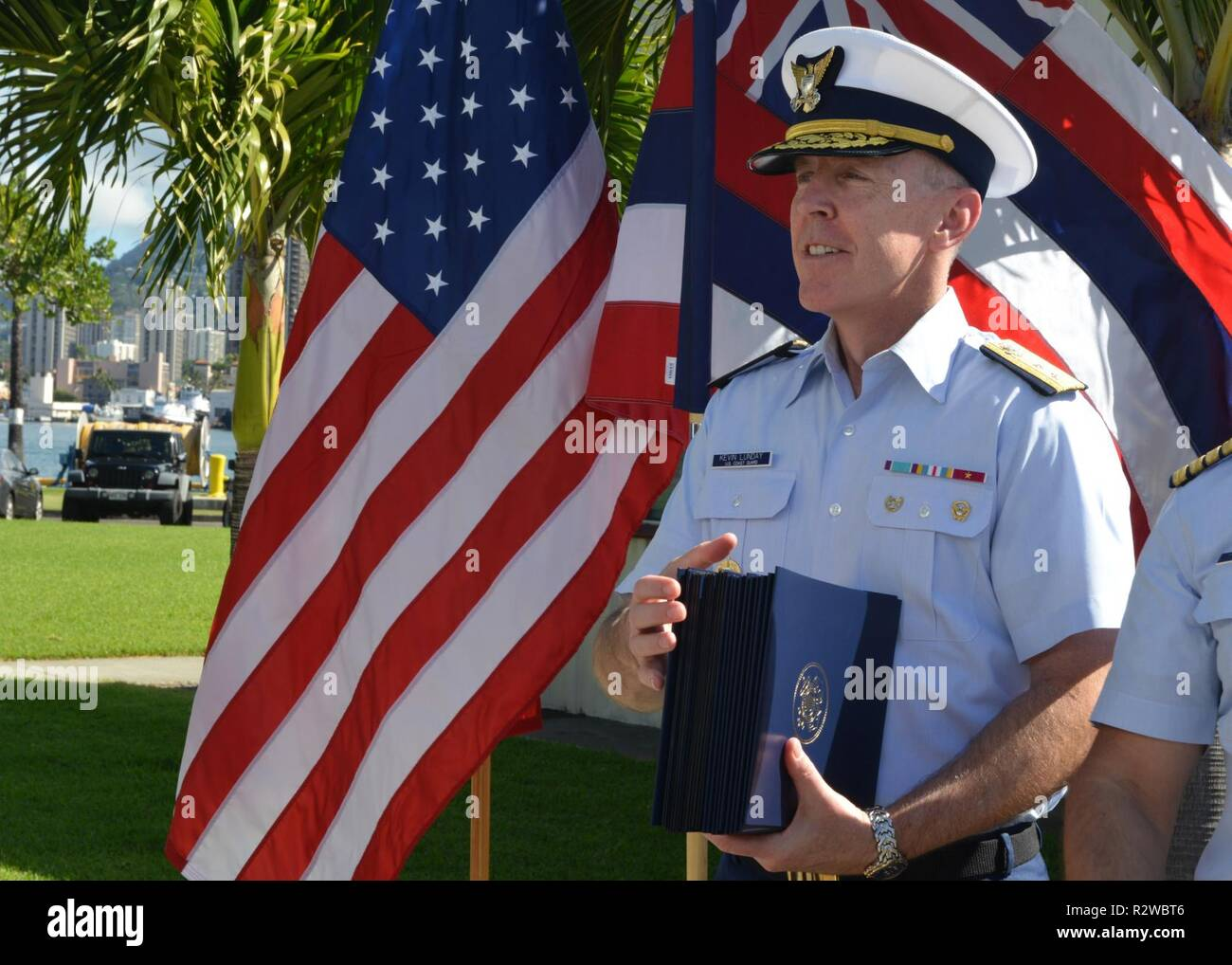 Rear Adm  Kevin Lunday, commander, Coast Guard 14th District