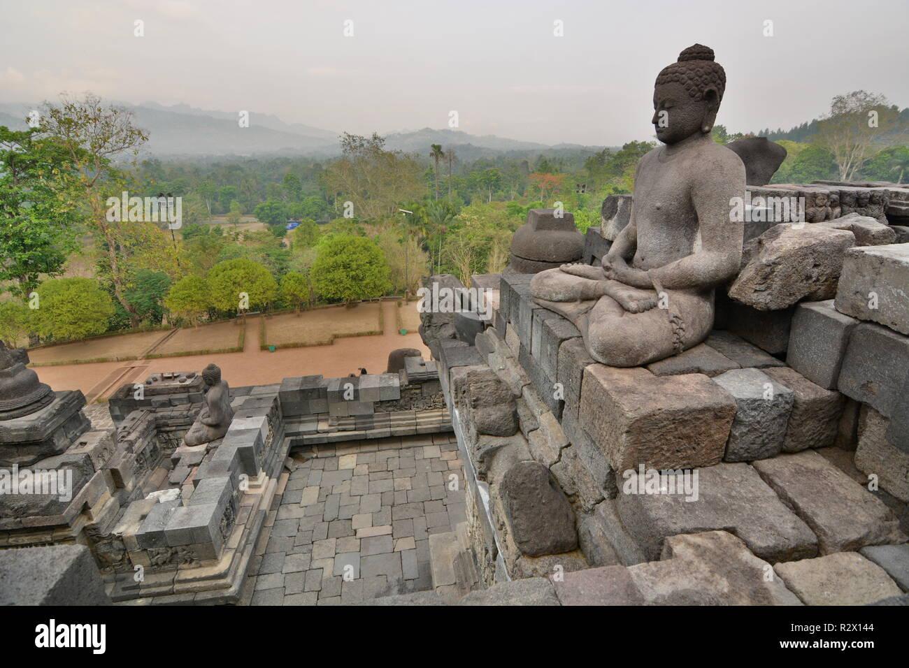 Borobudur buddhist temple. Magelang. Central Java. Indonesia - Stock Image