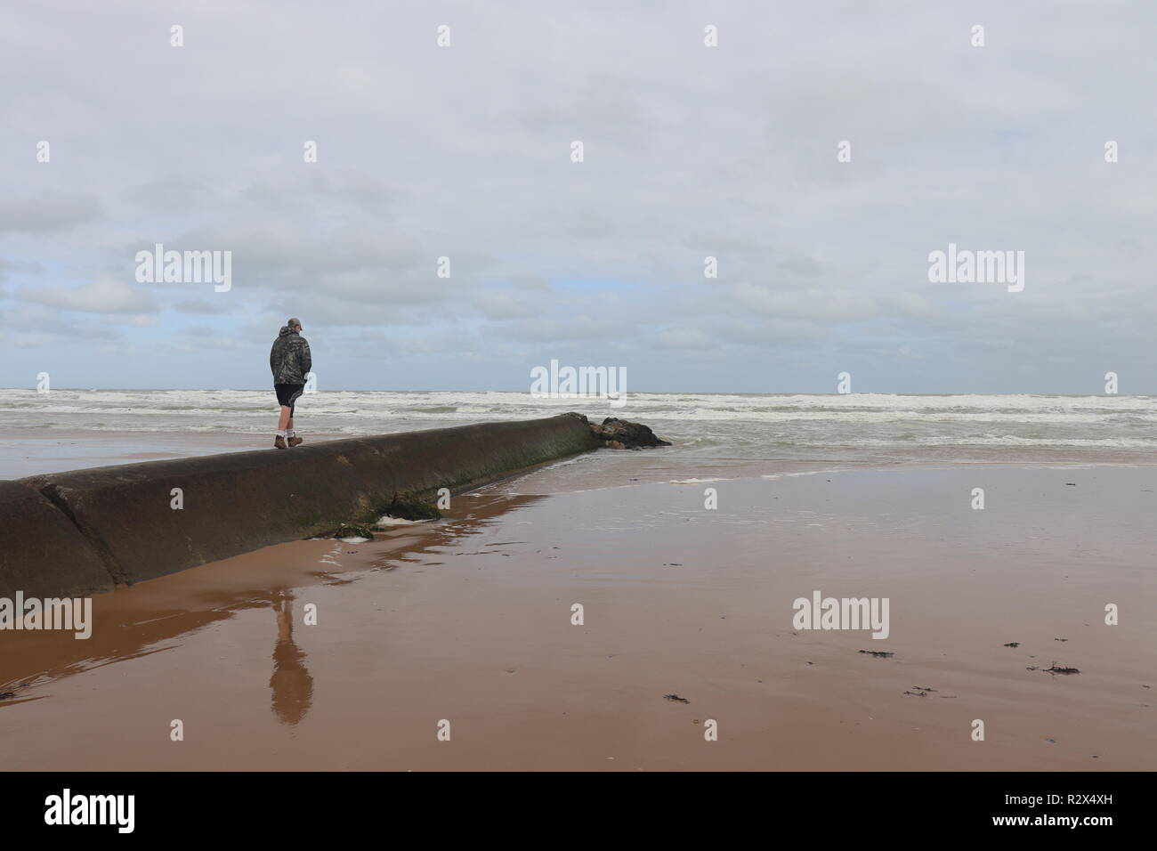 Omaha Beach in Normandy France - Stock Image