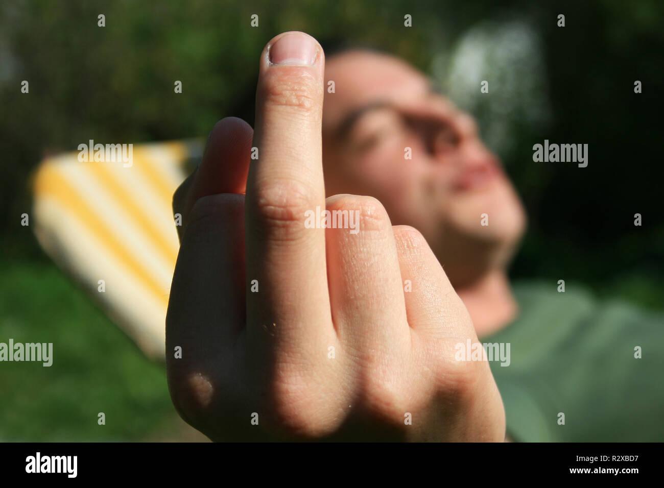 mitel finger Stock Photo