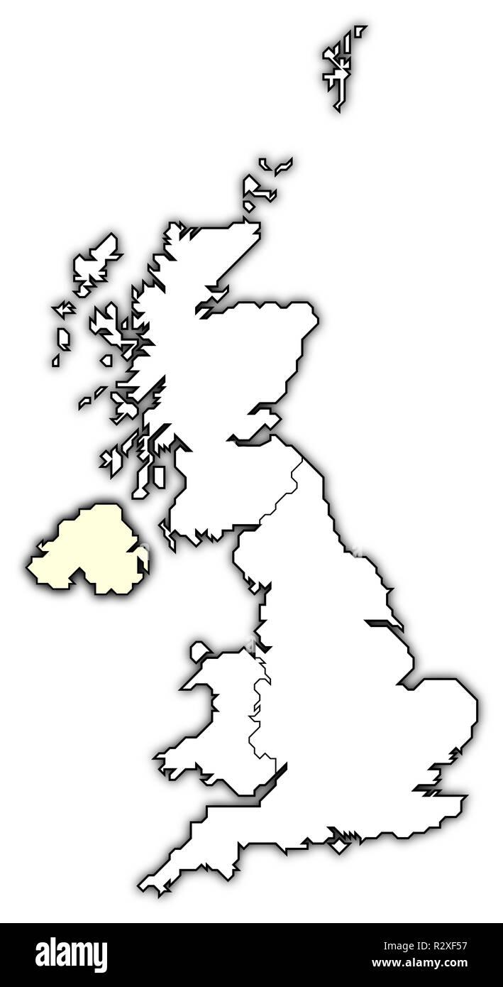 map of united kingdom - Stock Image