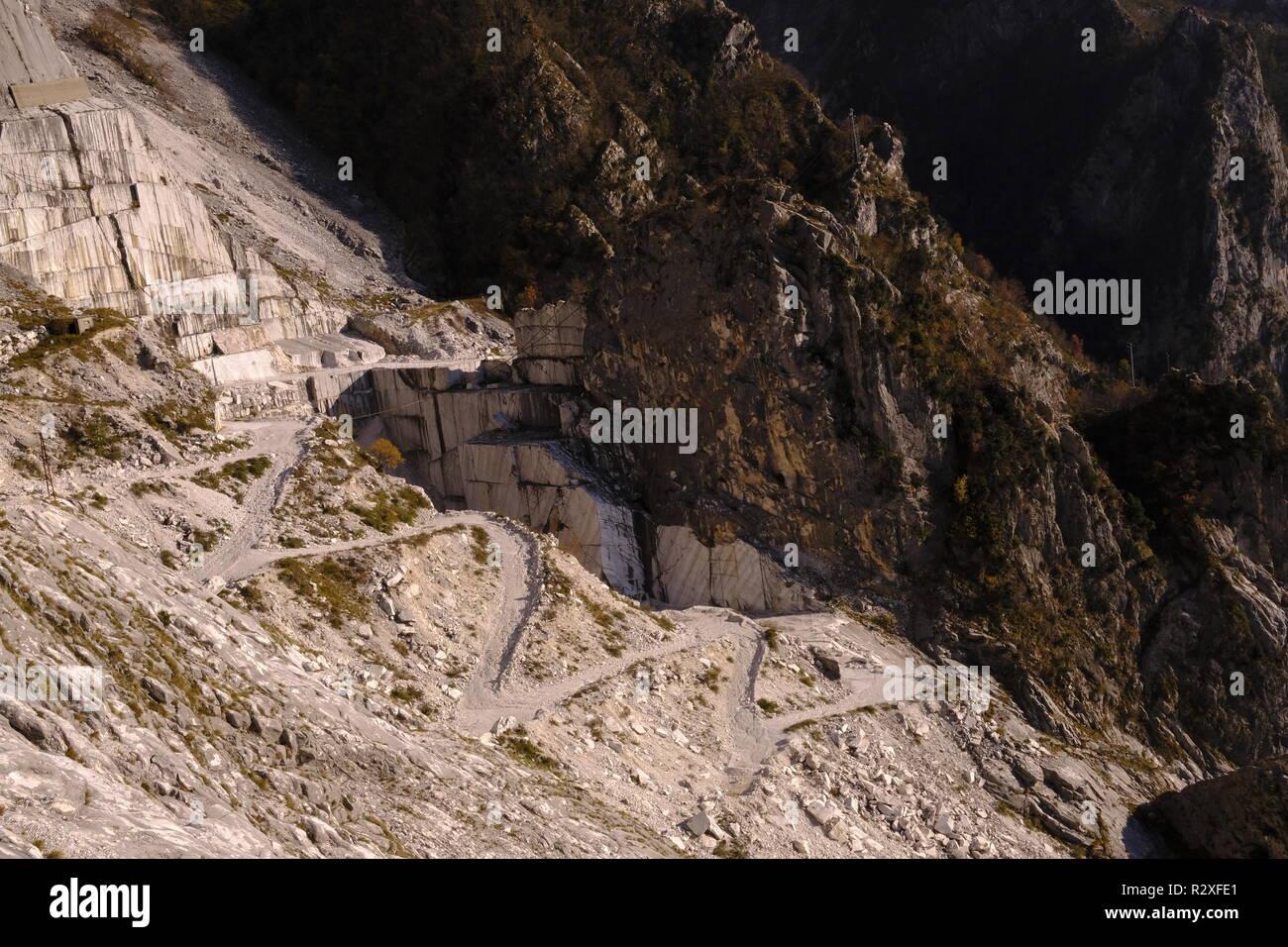 Unplugged: hiking on Monte Altissimo, Tuscany (Italy). Stock Photo