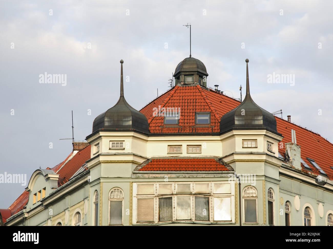 Fragment of old building in Bielsko-Biala. Poland - Stock Image