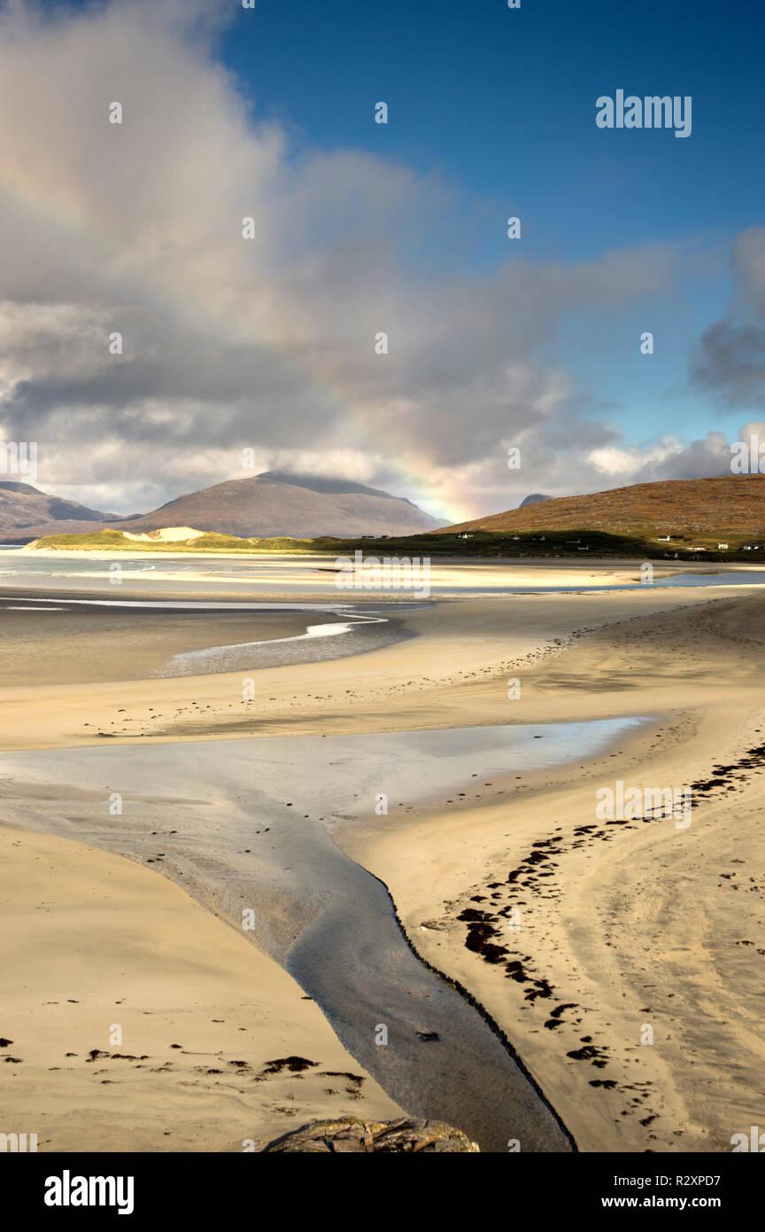 Luskentyre Beach, Isle of Harris, Outer Hebrides, Scotland - Stock Image