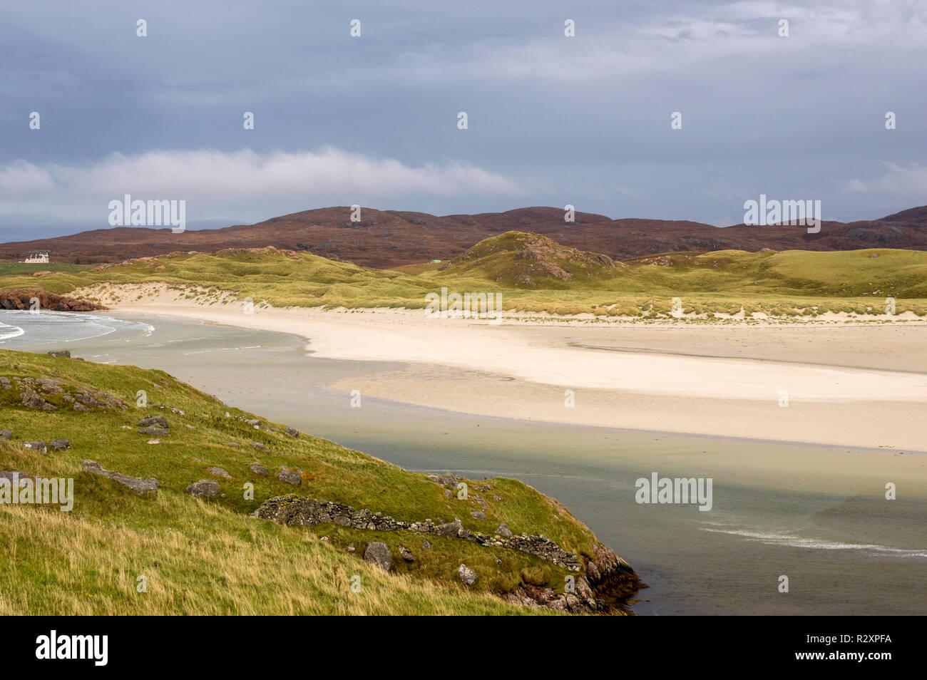 Uig Sands, Isle of Lewis Scotland UK - Stock Image