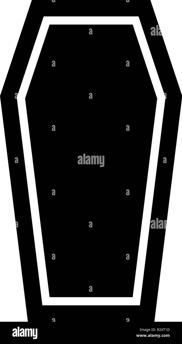 Coffin Insurance concept Funeral subject Lid coffin icon black color vector I flat style simple image - Stock Vector