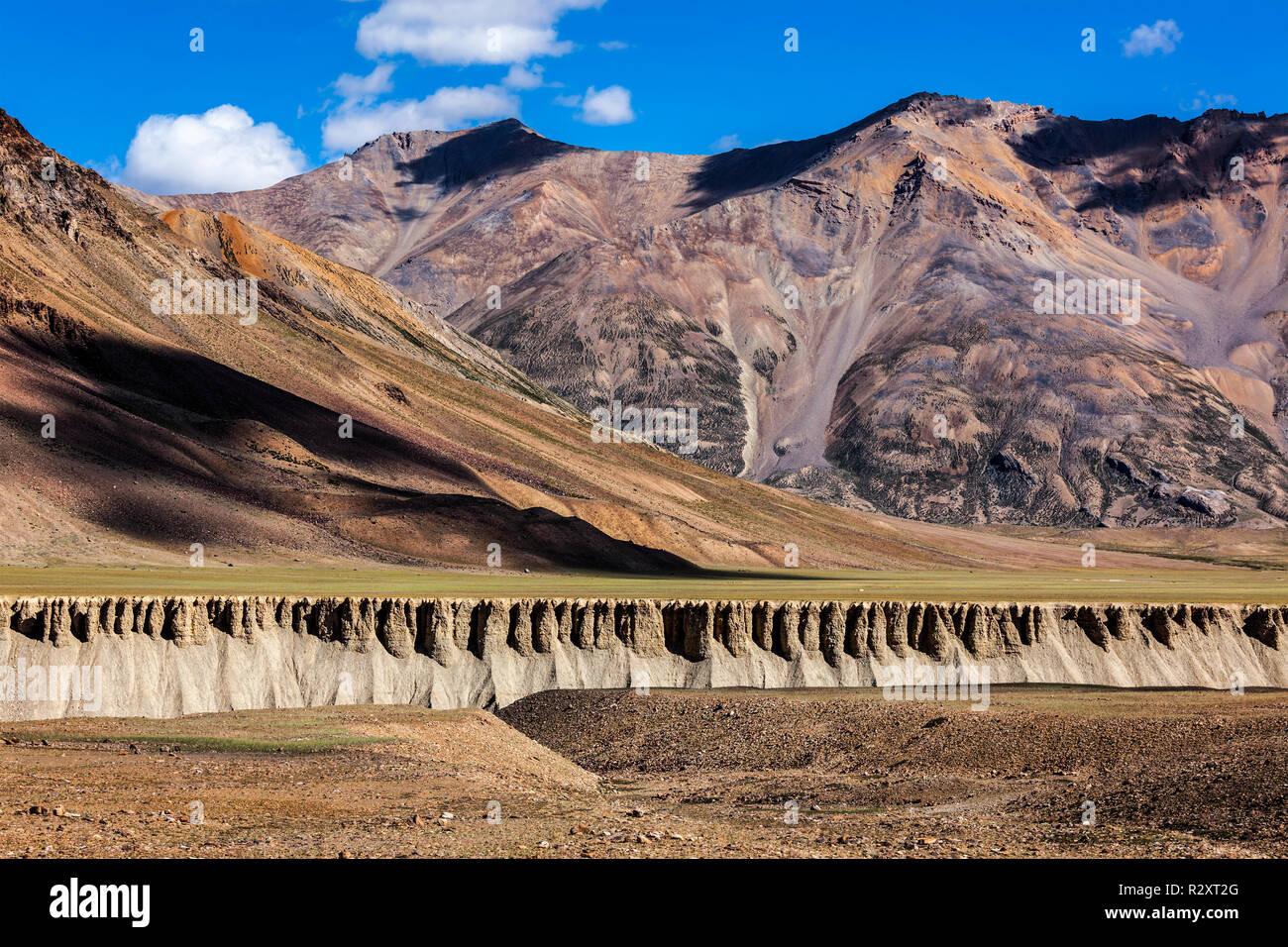 Landscape in Himalayas. Himchal Pradesh, India - Stock Image