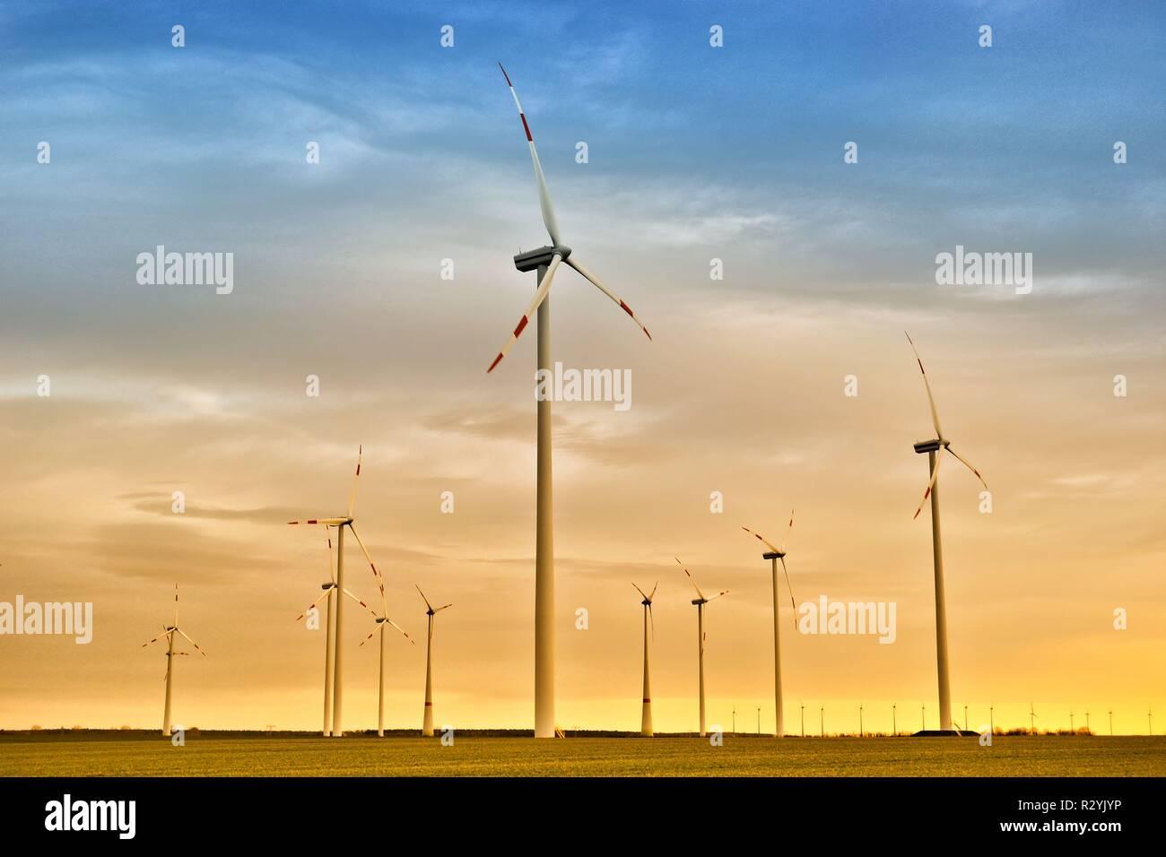 wind energy - Stock Image
