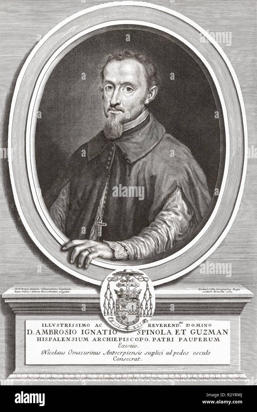 Ambrosio Ignacio Spínola y Guzmán, 1632-1684.  Spanish priest.  Bishop of Oviedo, then Archbishop of Valencia, then Archbishop of Santiago and finally Archbishop of Seville. - Stock Image