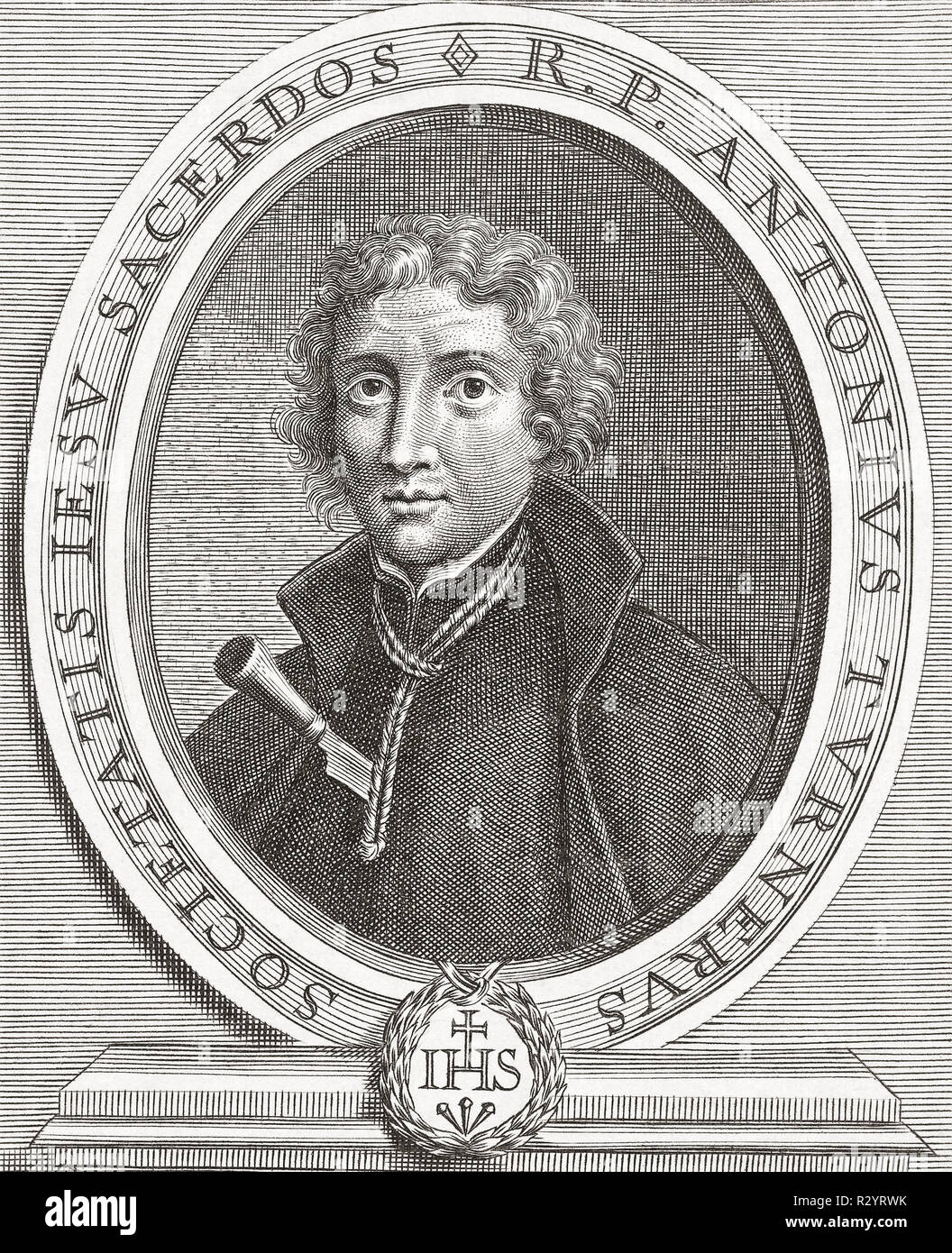 Anthony Turner, 1628-1679.  English Jesuit executed after being falsely accused of involvement in the fictitious Popish Plot to kill King Charles II.  The church considers him a martyr and he was beatified in 1929. - Stock Image