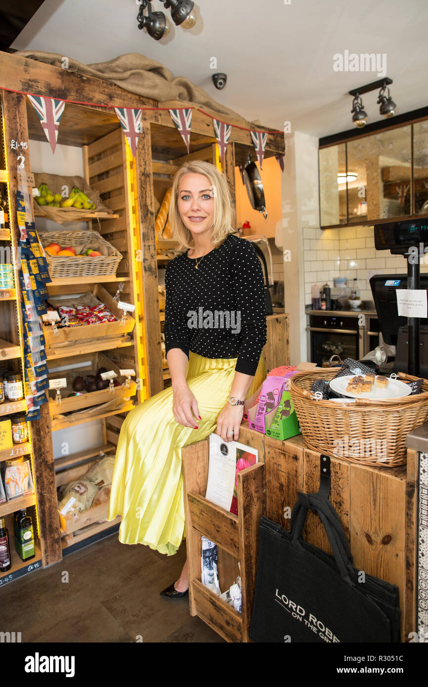 TV presenter closes village Post Office in shed dispute, The Lord Roberts was re-opened last year on the Webb Estate in Purley by Laura Hamilton - Stock Image