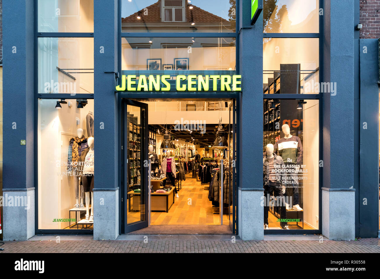 Jeans In Retail Store Stock Photos Jeans In Retail Store Stock
