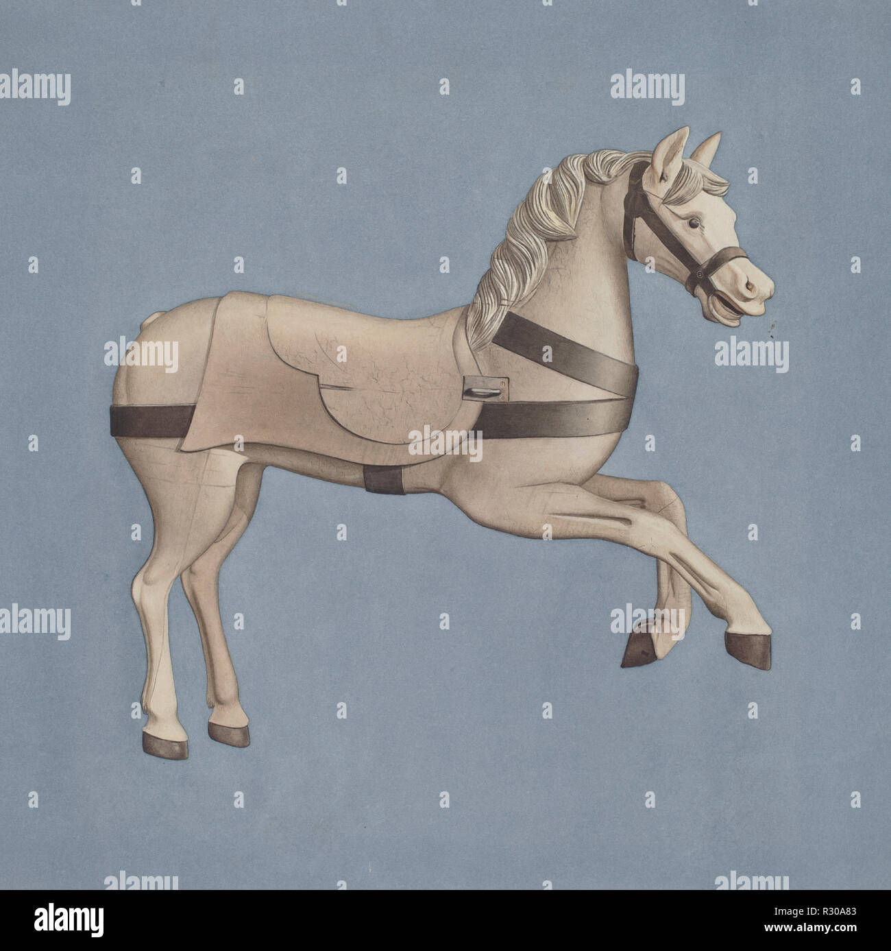 Carousel Horse  Dated: c  1939  Dimensions: overall: 38 x 36 7 cm