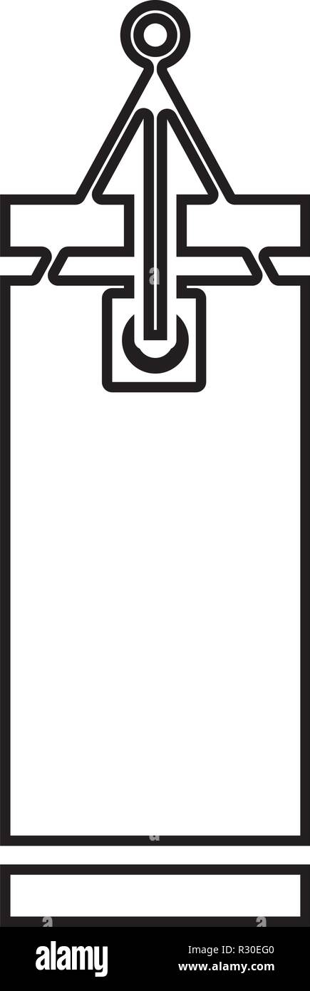 Punching bag icon black color vector I flat style simple image outline - Stock Vector