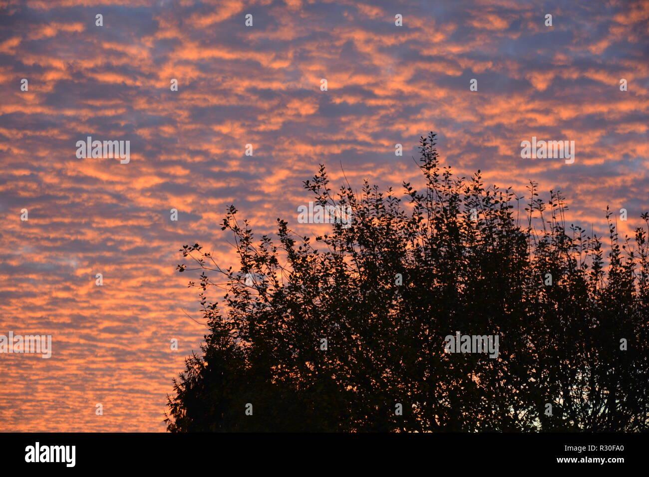 Sonnenaufgang Hintergrund Abendrot Stock Photo