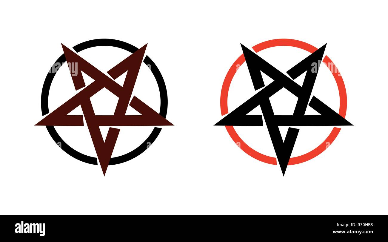 Satan star, pentagram symbol of satanism, Mystical Sign