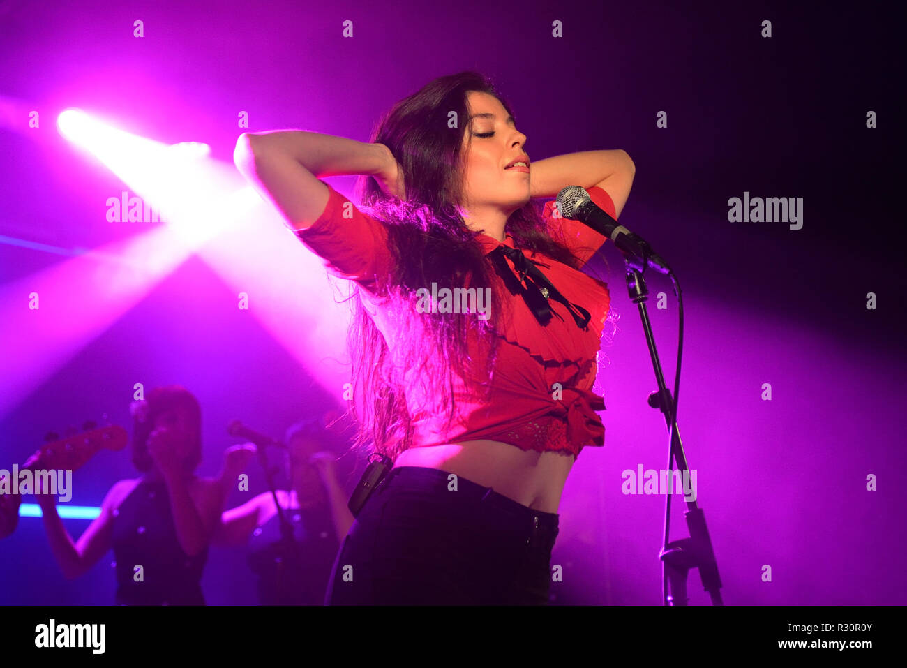 BARCELONA - MAY 10: Solea Morente (flamenco singer) performs in concert at Apolo stage on May 10, 2018 in Barcelona, Spain. - Stock Image