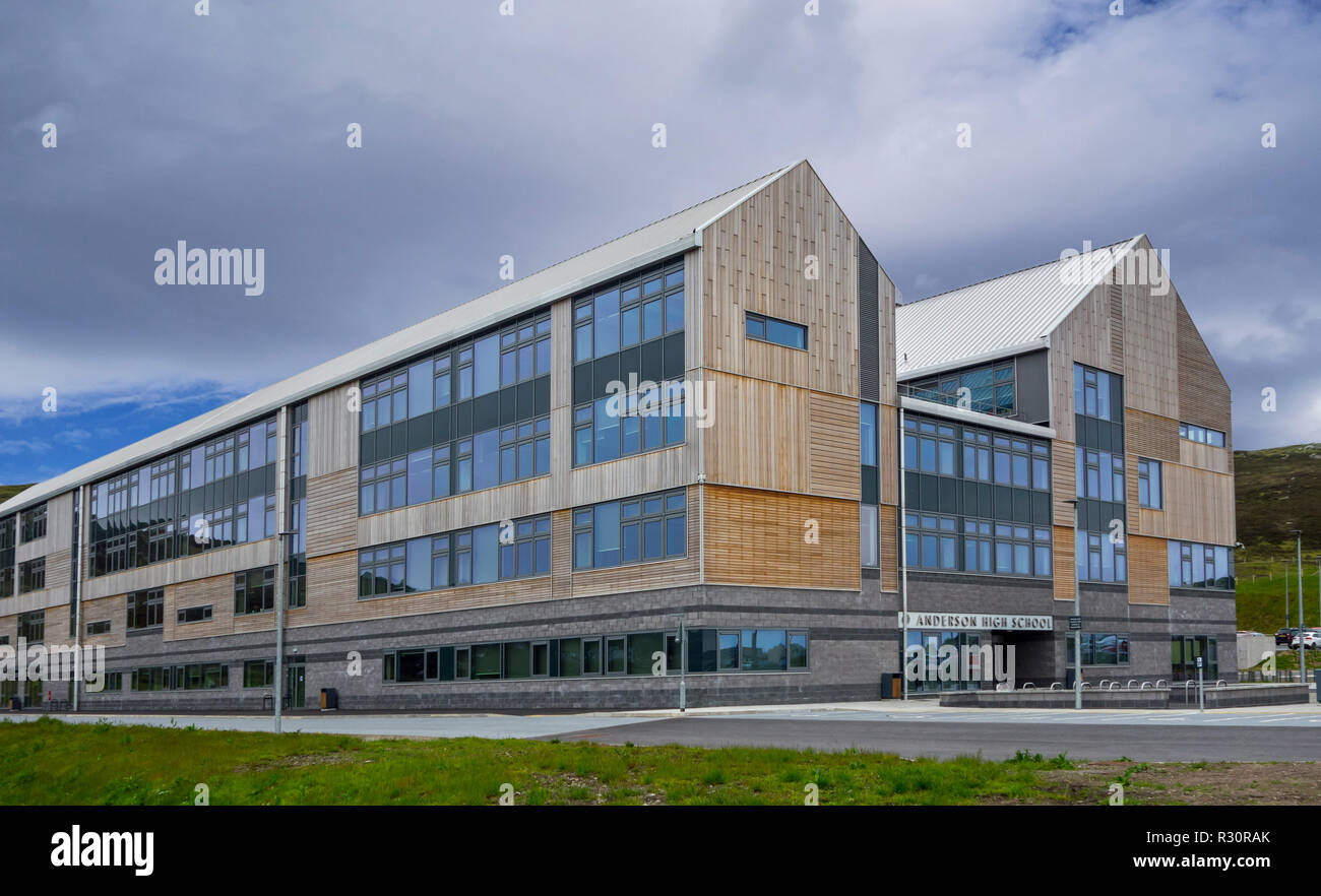 Anderson High School / AHS, comprehensive secondary school in Lerwick, Shetland Islands, Scotland, UK - Stock Image