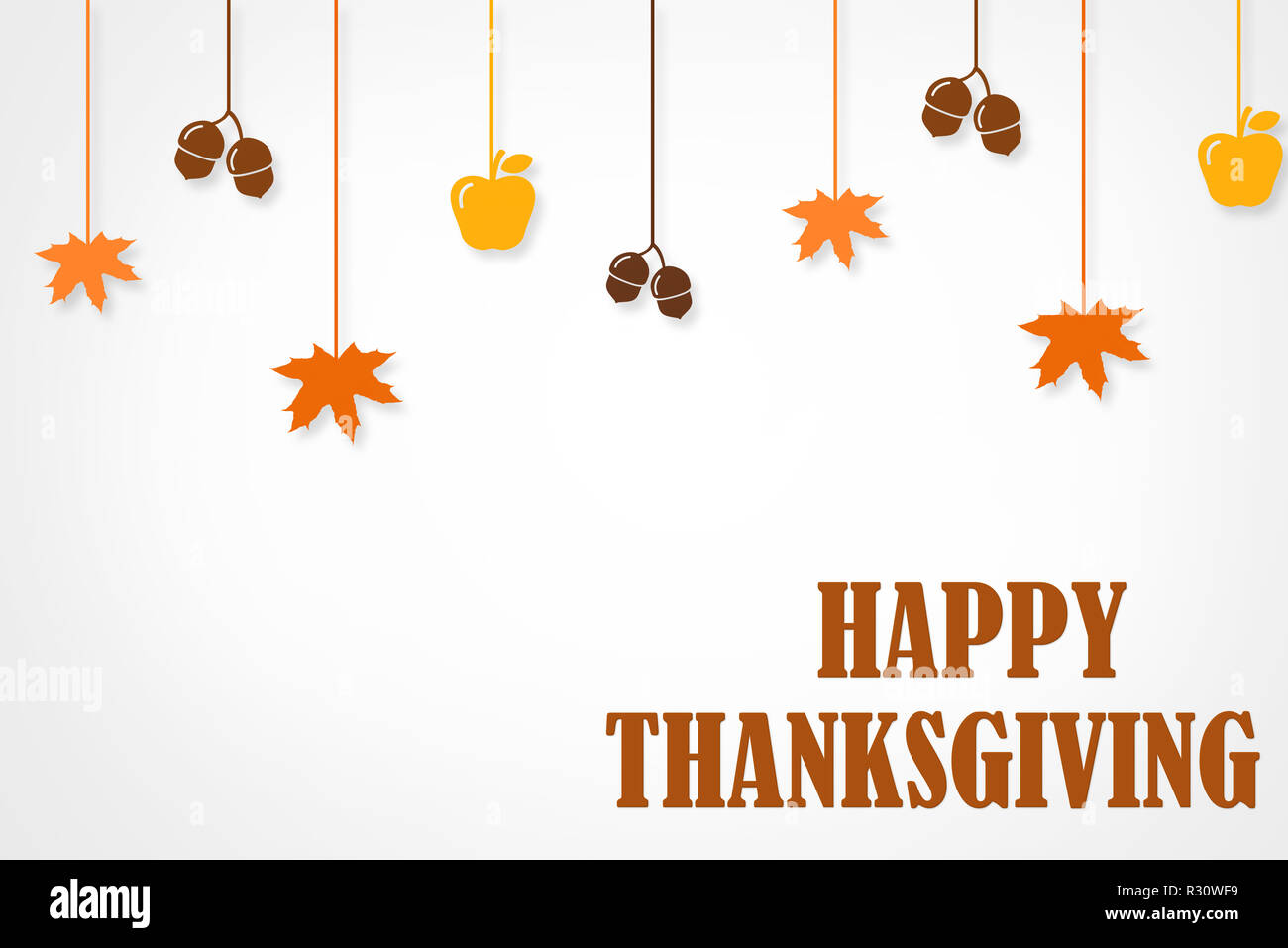 happy thanksgiving day typographic poster design template thank you