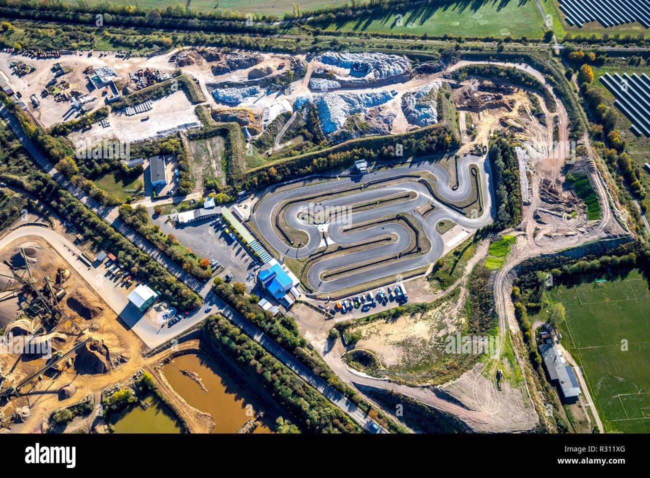 Luftbild, Motorsportanlage Harz-Ring, Froser Straße, Reinstedt, Landkreis Goslar, Sachsen-Anhalt, Deutschland, Europa, DEU, birds-eyes view, Luftaufna - Stock Image