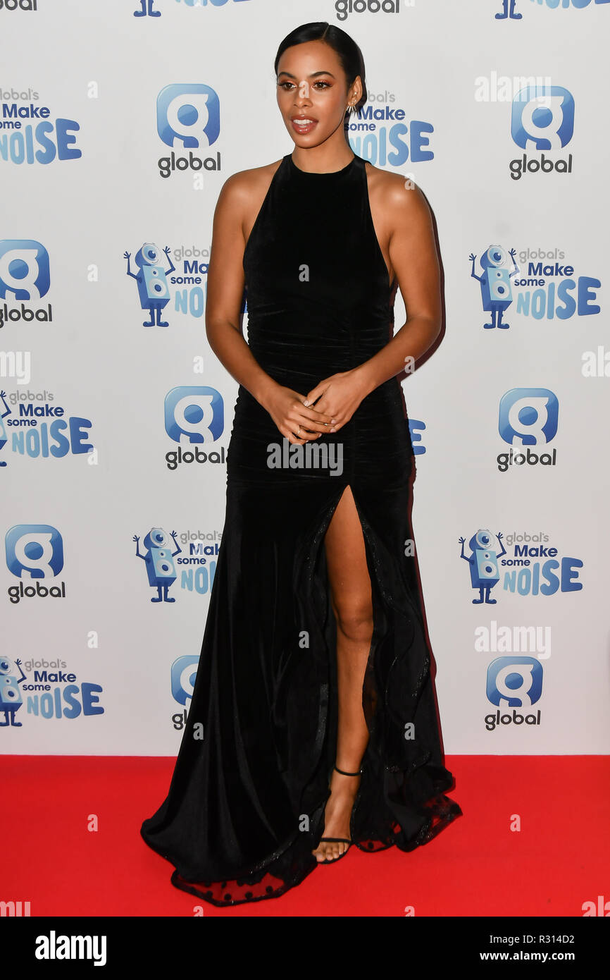 London, UK. 20th November, 2018. Rochelle Humes arrivers at the Global's Make Some Noise Night at Finsbury Square Marquee on 20 November 2018, London, UK. Credit: Picture Capital/Alamy Live News - Stock Image