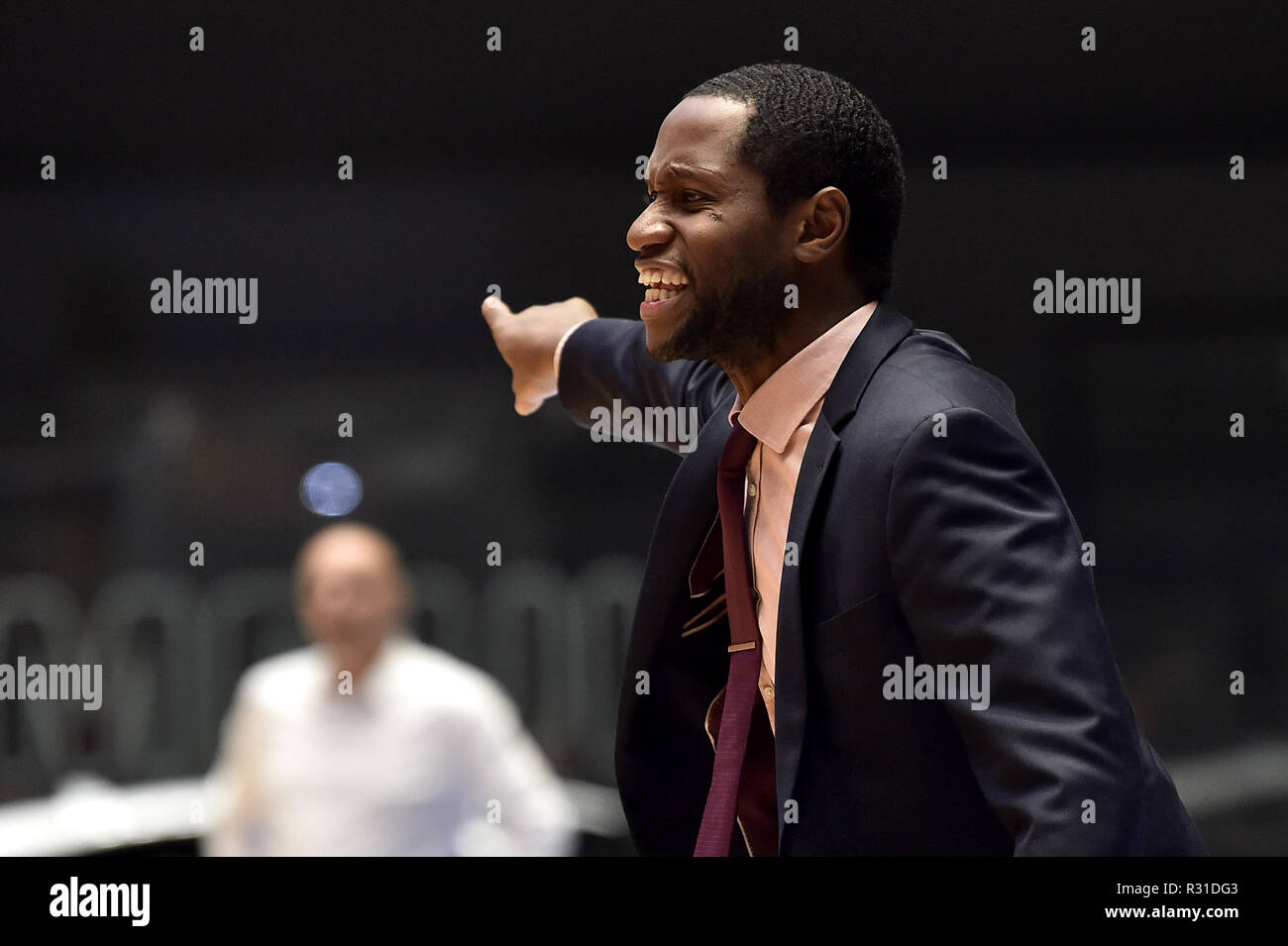 0455e9025f Coach LEVELL SANDERS (Pardubice) gestures during the FIBA Europe Cup