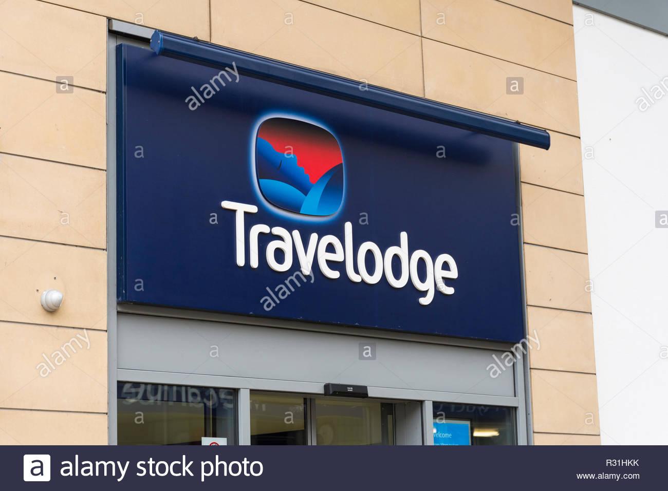 A Travelodge hotel in Euston Road, Morecambe, Lancashire - Stock Image