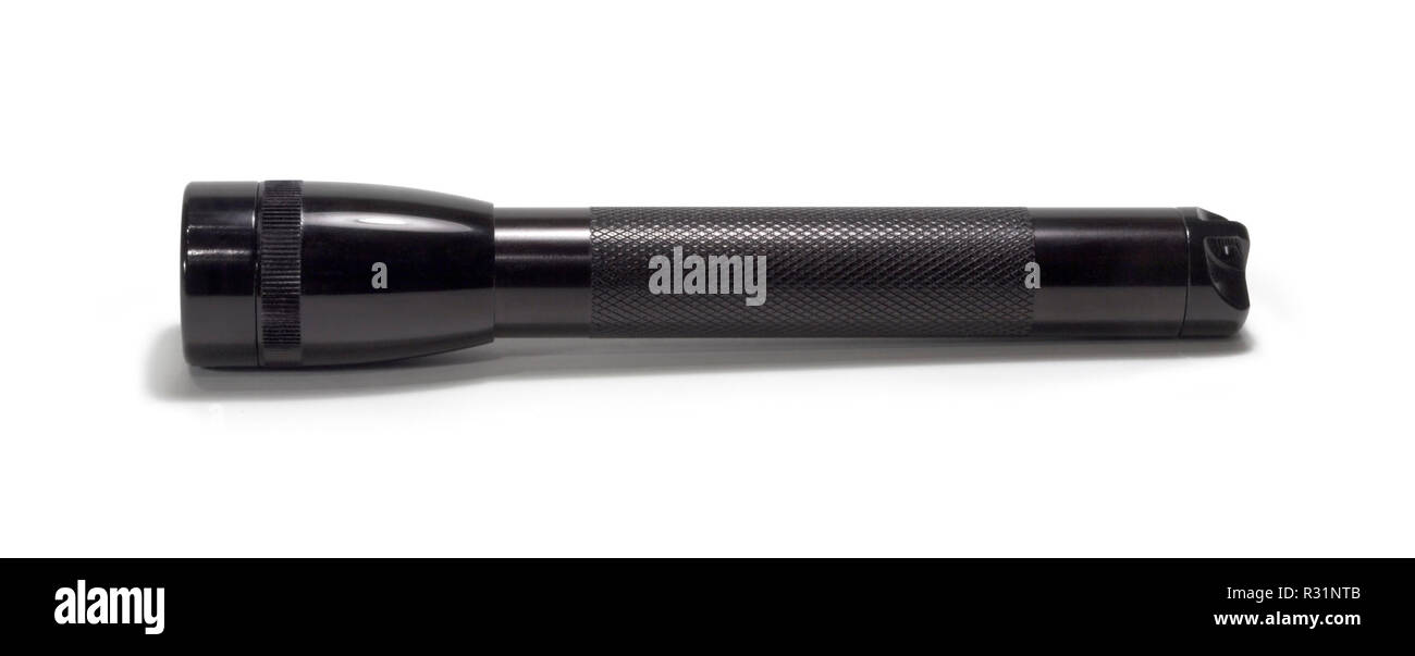 black pocket lamp - Stock Image