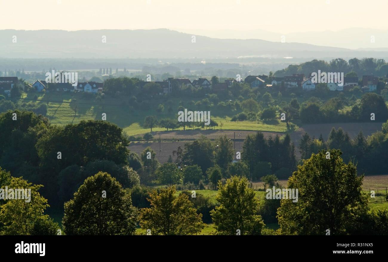 panoramic view around emmendingen - Stock Image
