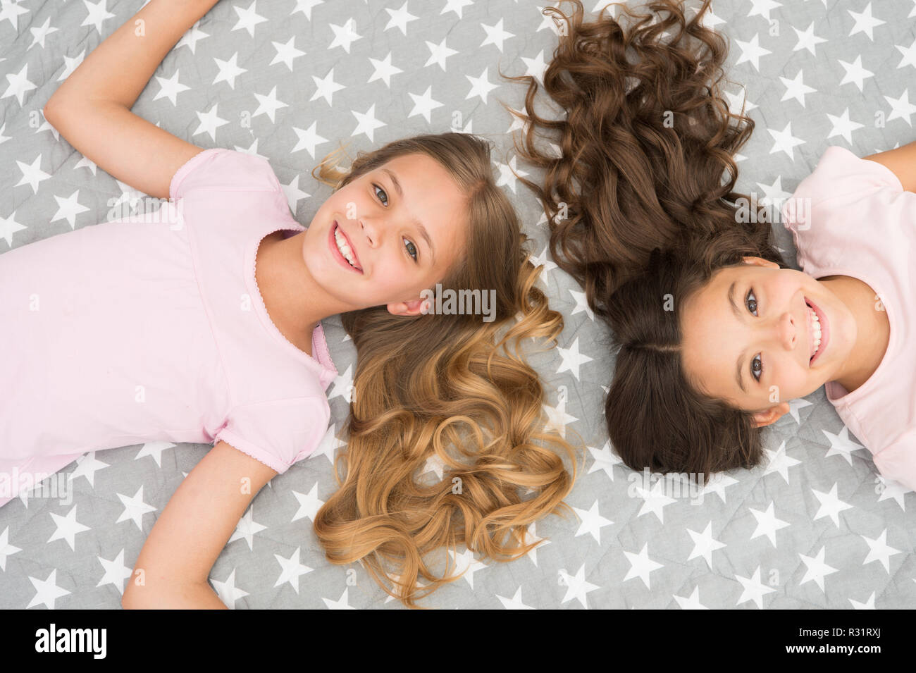 Children Curly Hairstyle Relaxing Keep Hair Curly Even Next Morning