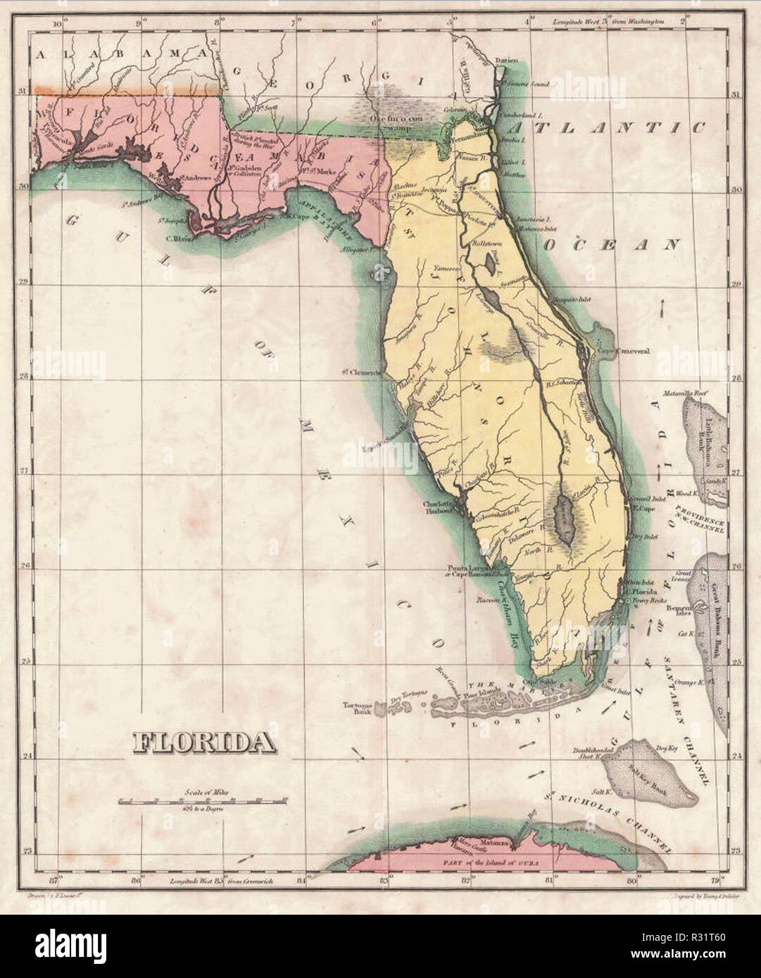 Under Spanish Rule Florida Was Divided By The Natural Separation Of