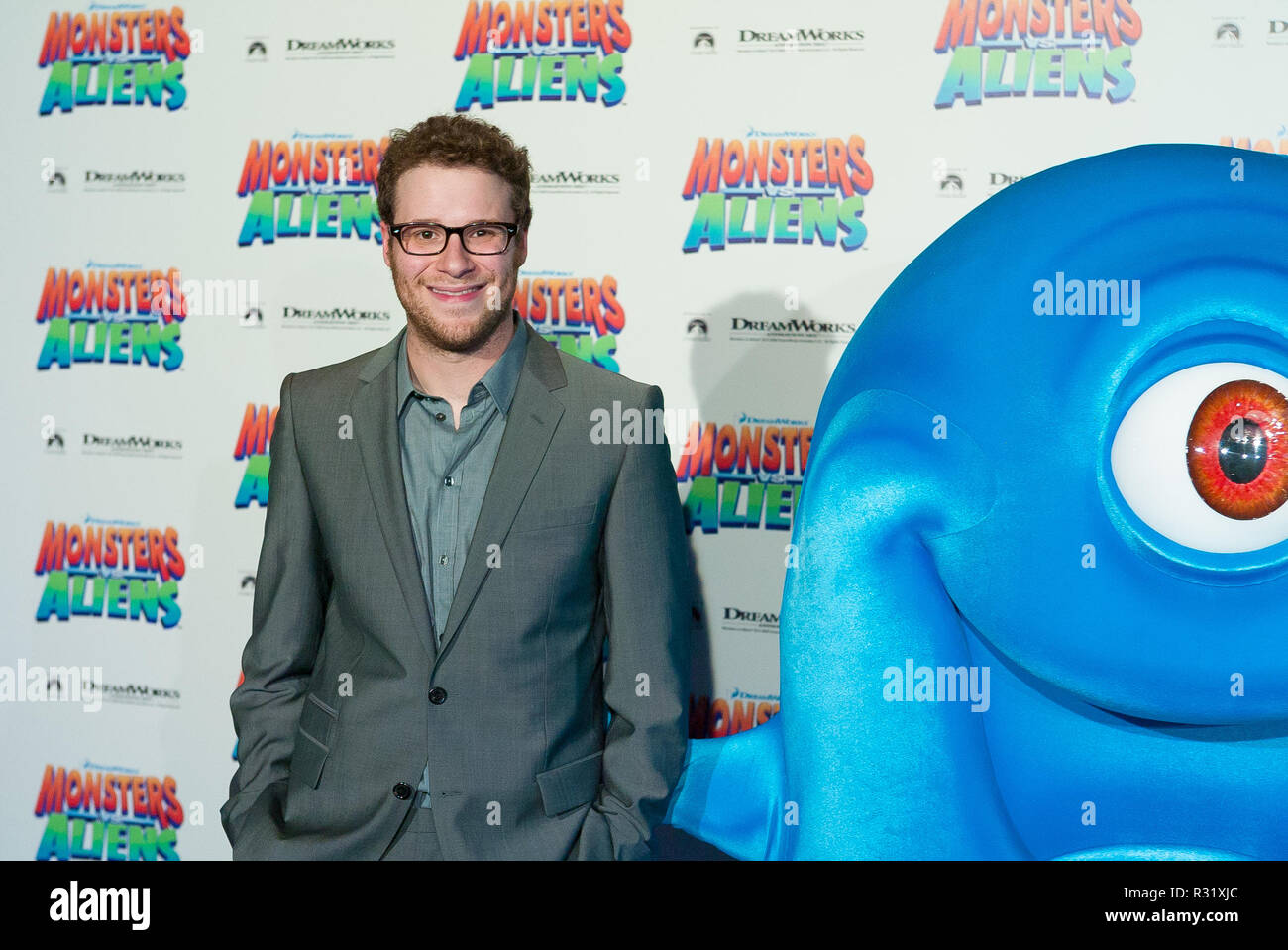 The 'Monsters Vs Aliens' movie premiere at the Greater Union George Street Cinema on March 5, 2009 in Sydney, Australia. Pictured: Seth Rogen. - Stock Image