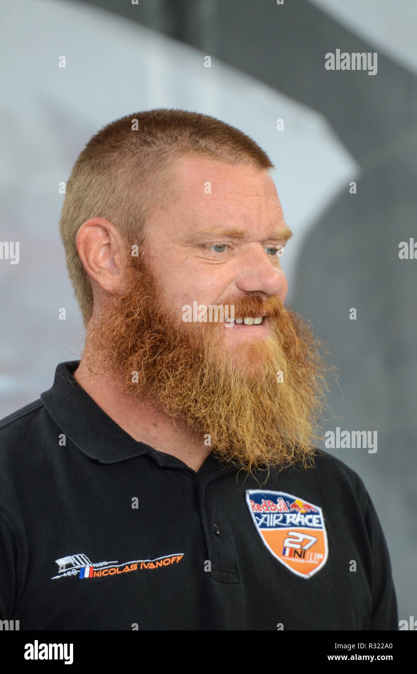 Jim Reed the Technical Director of Red Bull Air Race. - Stock Image