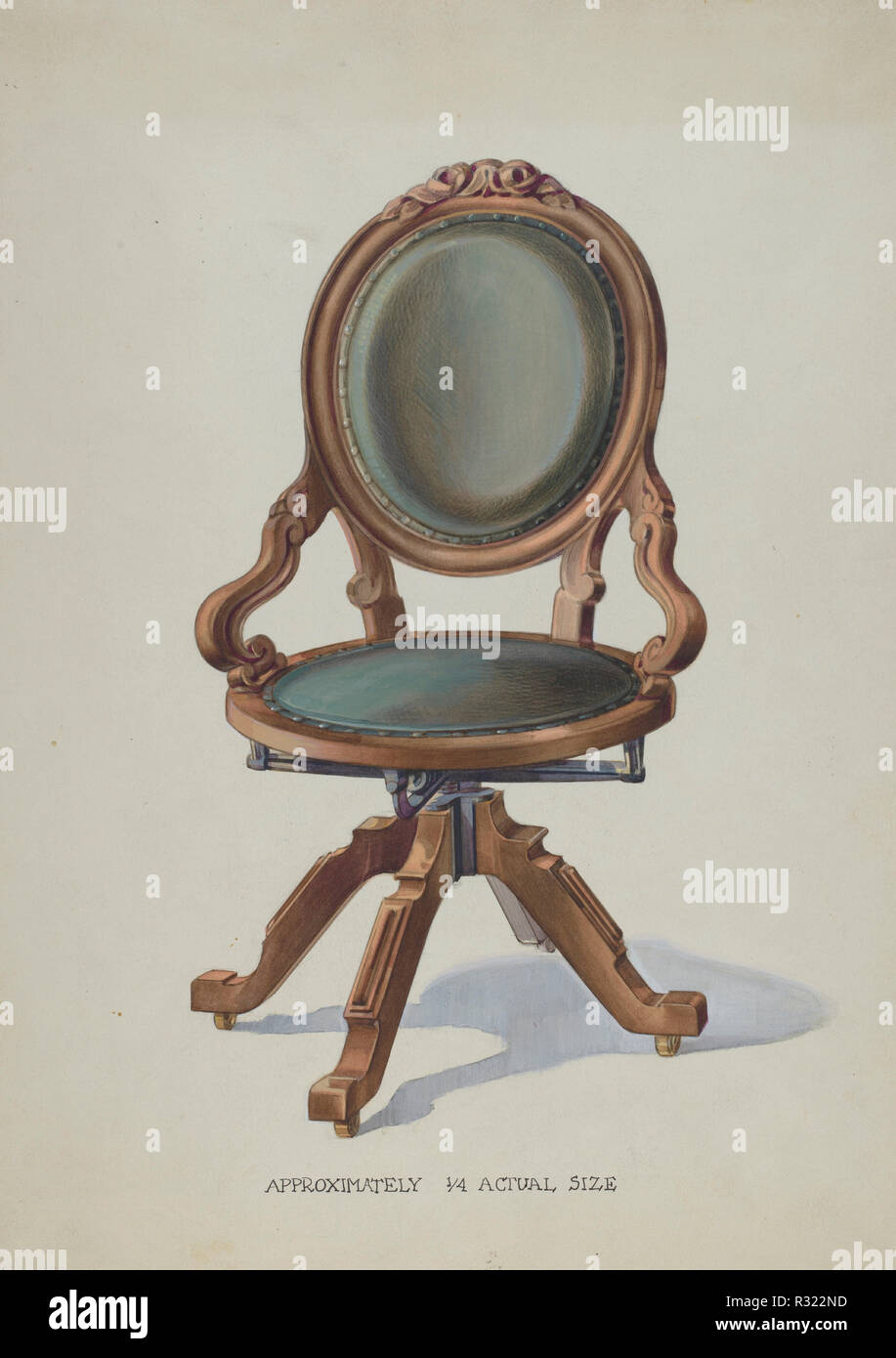 Office Swivel Chair Dated C 1936 Dimensions Overall