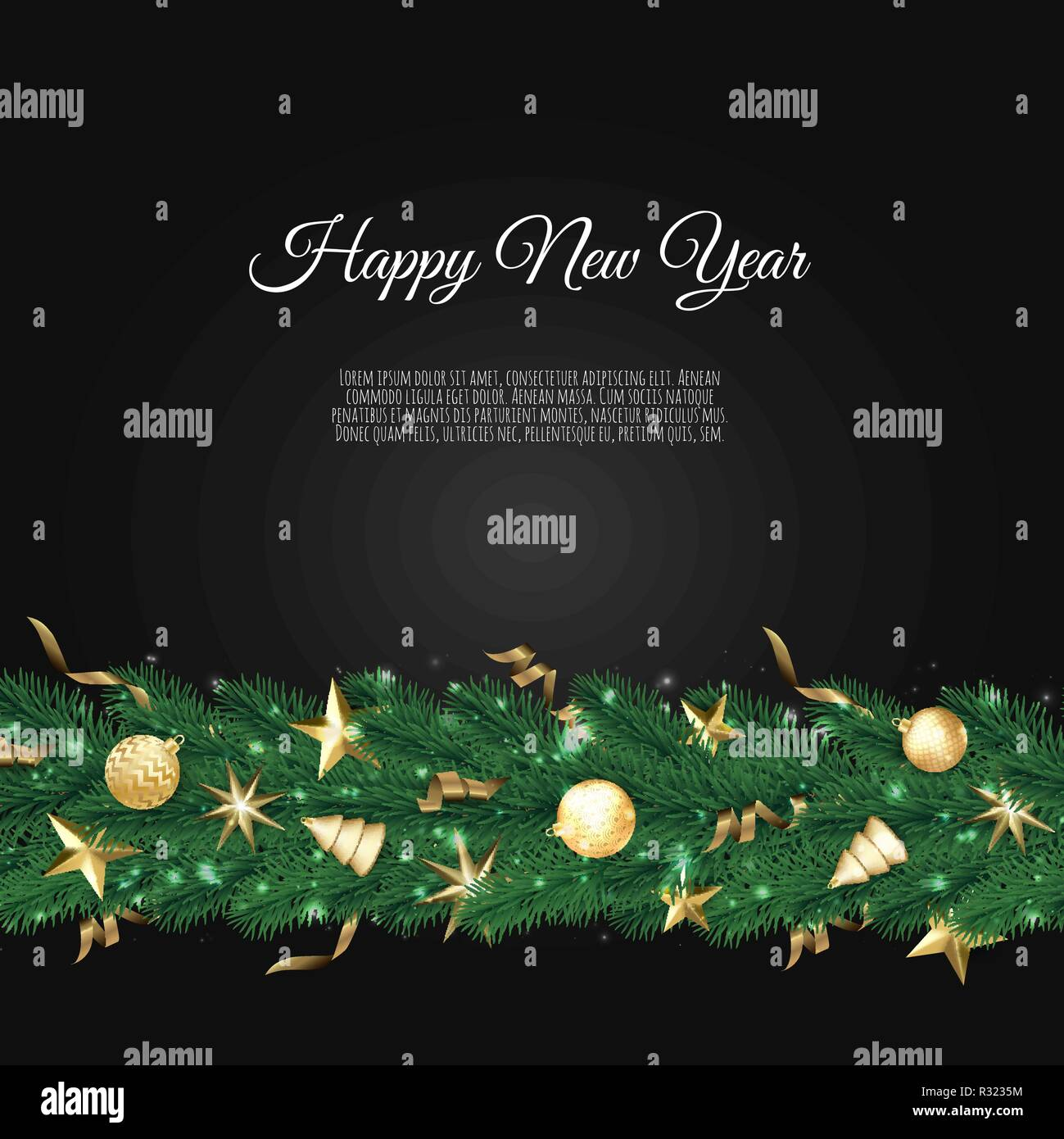 banner with vector christmas tree branches and space for text realistic fir tree border great for christmas cards banners flyers party posters h
