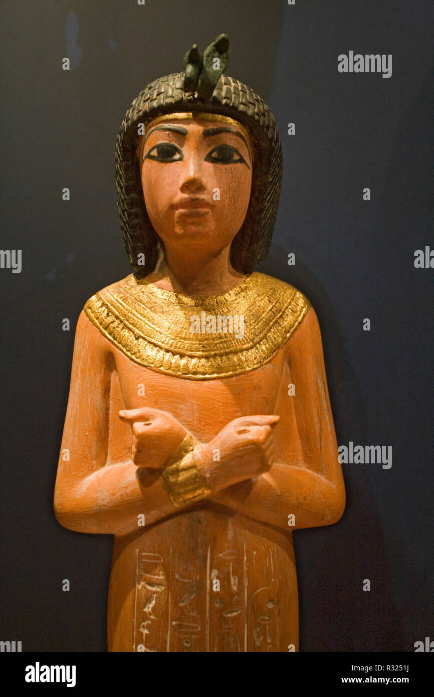 A carving of one of King Tut's servants, found in his Tomb in Egypt's Valley of the Kings. - Stock Image
