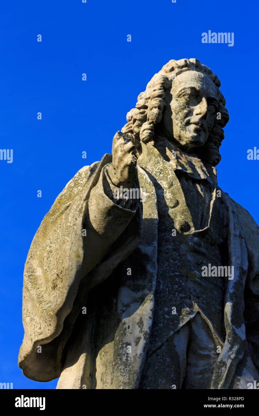 Sir Isaac Watts Statue, West Park, Southampton, Hampshire, England, United Kingdom - Stock Image
