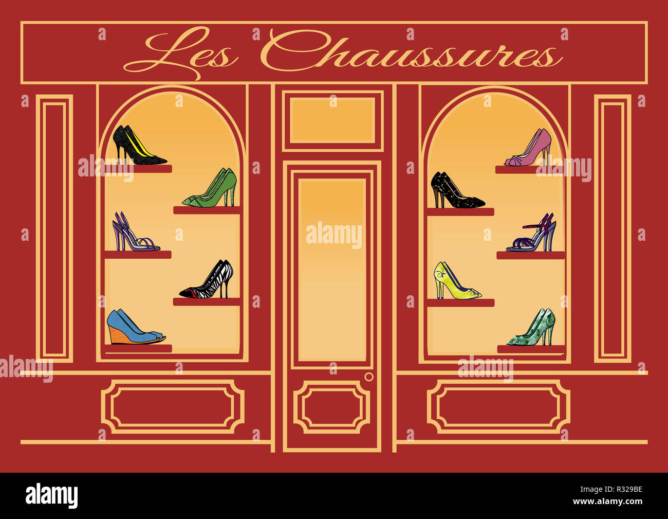 Les Chaussures - Stock Image