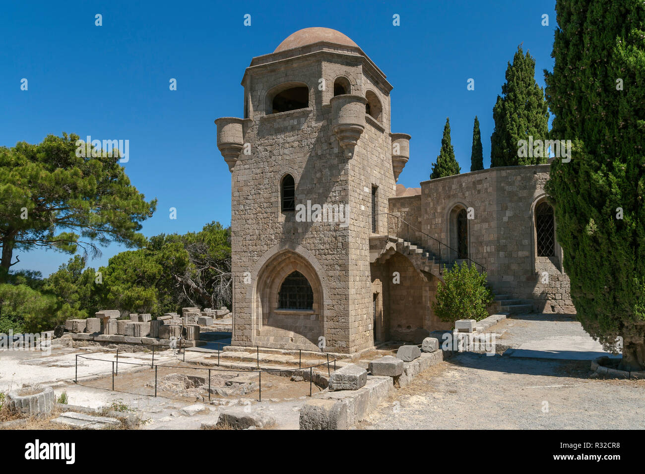 church on the filerimos,rhodes - Stock Image