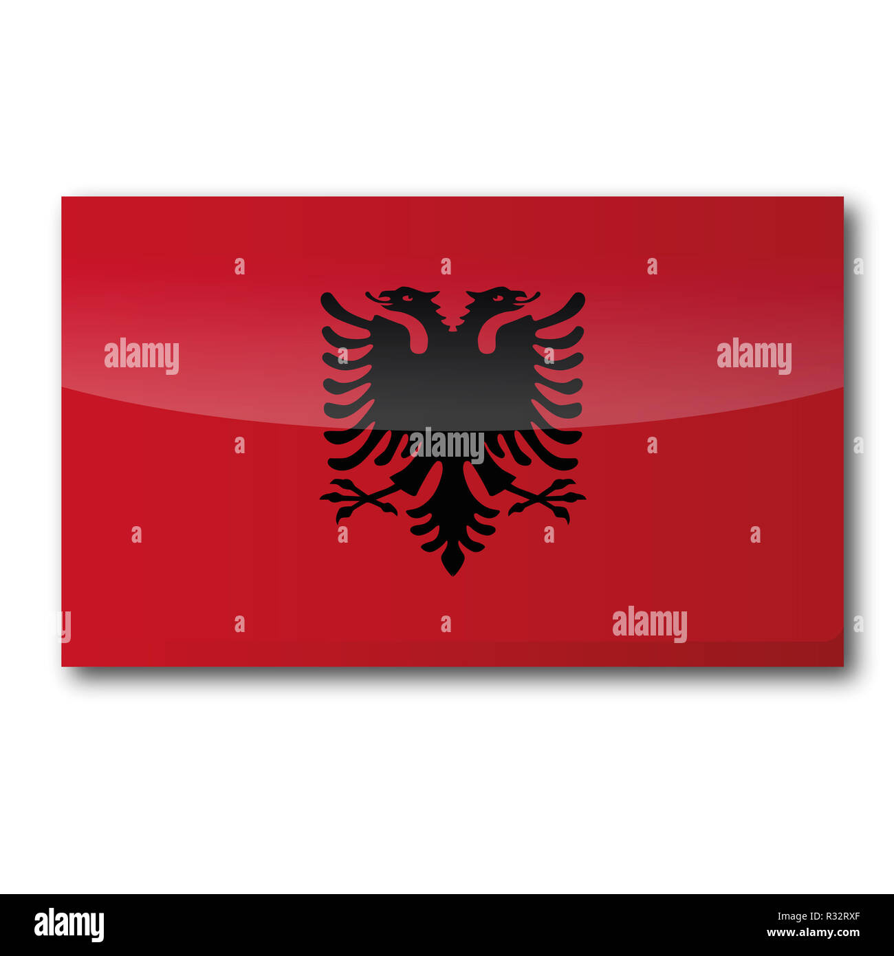 flag albania - Stock Image